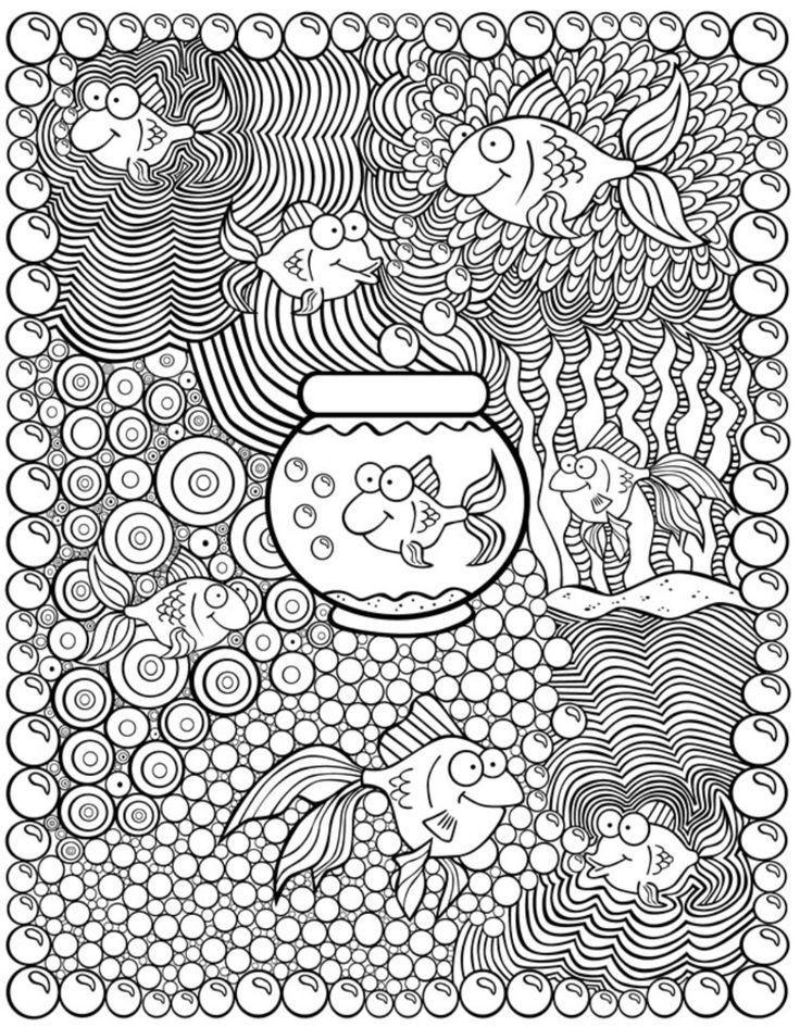 Kleurplaat vis - Dover publications