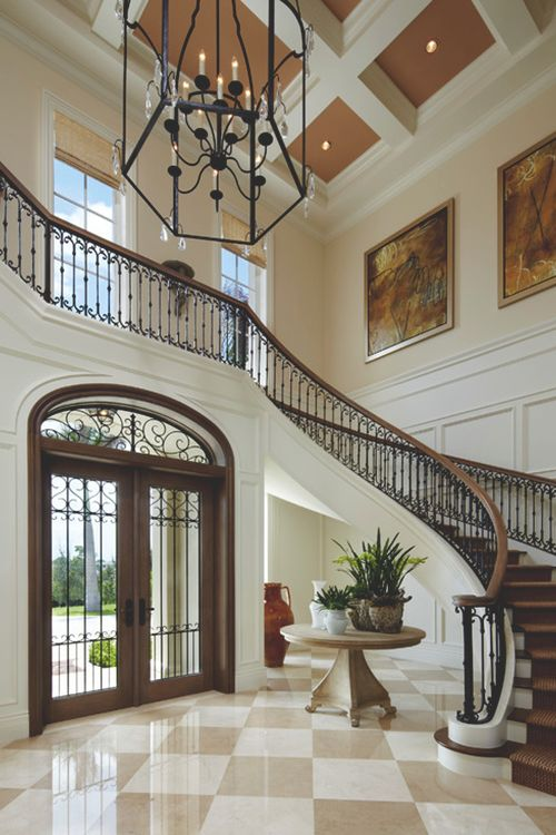 17 best images about home on pinterest spanish foyers for Square spiral staircase plans hall