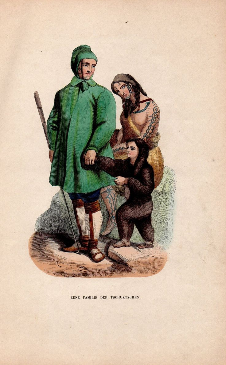 Hand Colored Chromolithograph Historical Antique Print 1880s Tribal People Costume Alaskan Indians Artwork Tschuktschen by HistoricalPrintsMaps on Etsy
