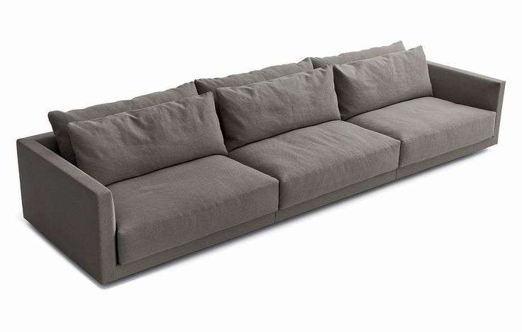 Bristol sofa. Soft and comfortable shapes, the wraparound double backrest cushions and the thin armrests are the main features of Bristol, designed by Jean-Marie Massaud. This sofa allows to combine highly original layouts.
