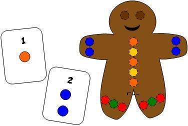 Gingerbread Man Pompom Fun