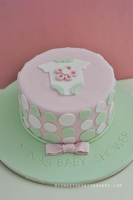 simple homemade baby shower cakes for girls | GIRL BABY SHOWER CAKE | Flickr - Photo Sharing!