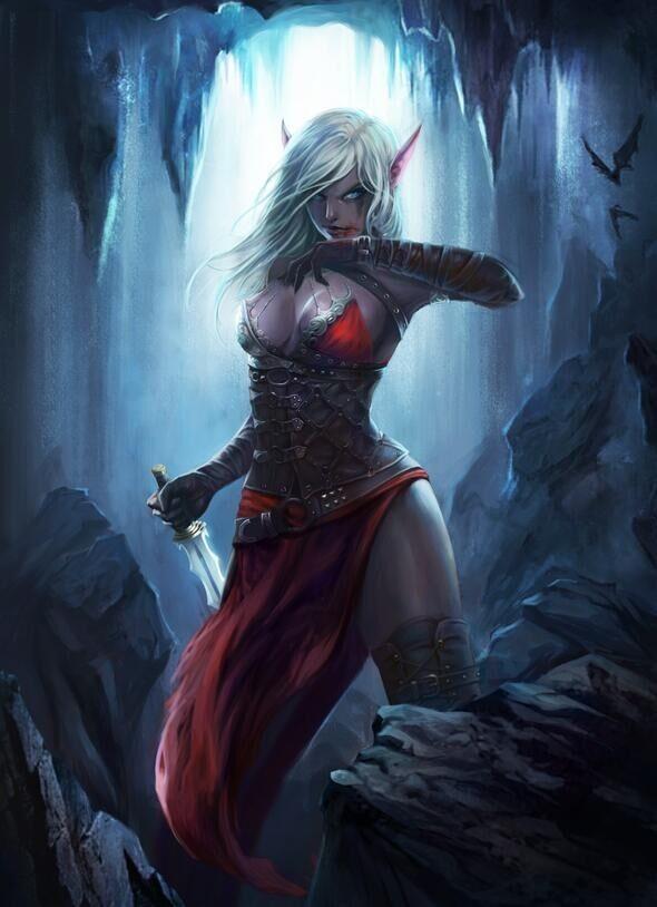 Fantasy nudes elf vampire assassin useful topic