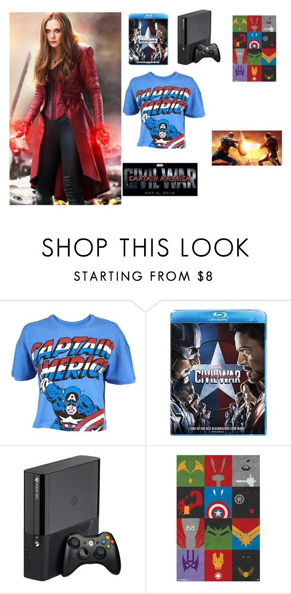 """""""Captin America: Civil War"""" by annabelprudencio ❤ liked on Polyvore featuring Olsen, contestentry and CaptainAmericaCivilWar"""