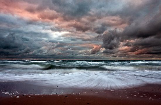 Stormy Skies of Inverness Beach Nova Scotia  The skies over Inverness Beach are…