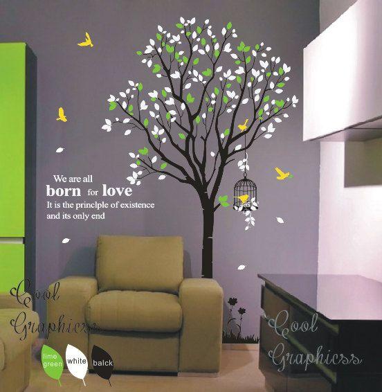 Baum Aufkleber Kinderzimmer Wand Aufkleber Vinyl von coolgraphicss