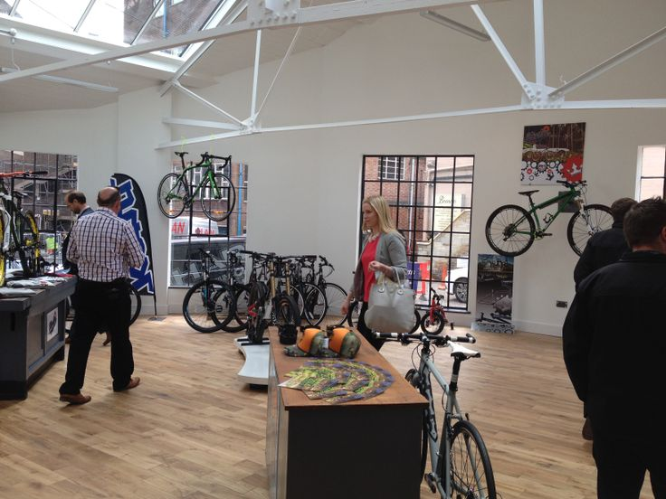 A view of the new shop at Park Bikeworks in Derby - the fantastic new facility for cyclists. A great way to get cycling in Derby.