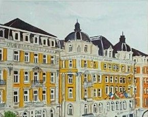 """""""Exploring Europe"""" by Suzanna Dénes - Architecture - Watercolor Painting (2015)"""
