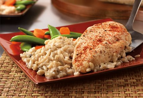 Campbell's One Dish Chicken & Rice Bake Recipe. It's what's for dinner.