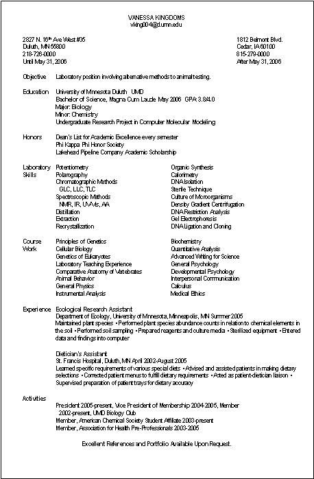 Resume Examples Real Resume Examples All Free Sample