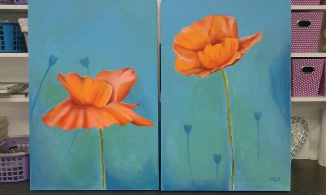 Poppies - acrylic on canvas
