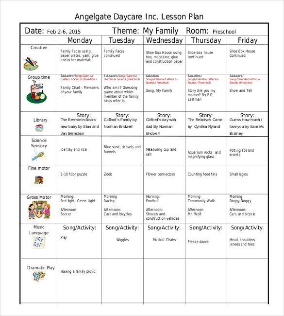 22 Preschool Lesson Plan Templates Doc Pdf Excel With Images