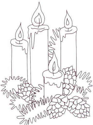 4 candles coloring sheet
