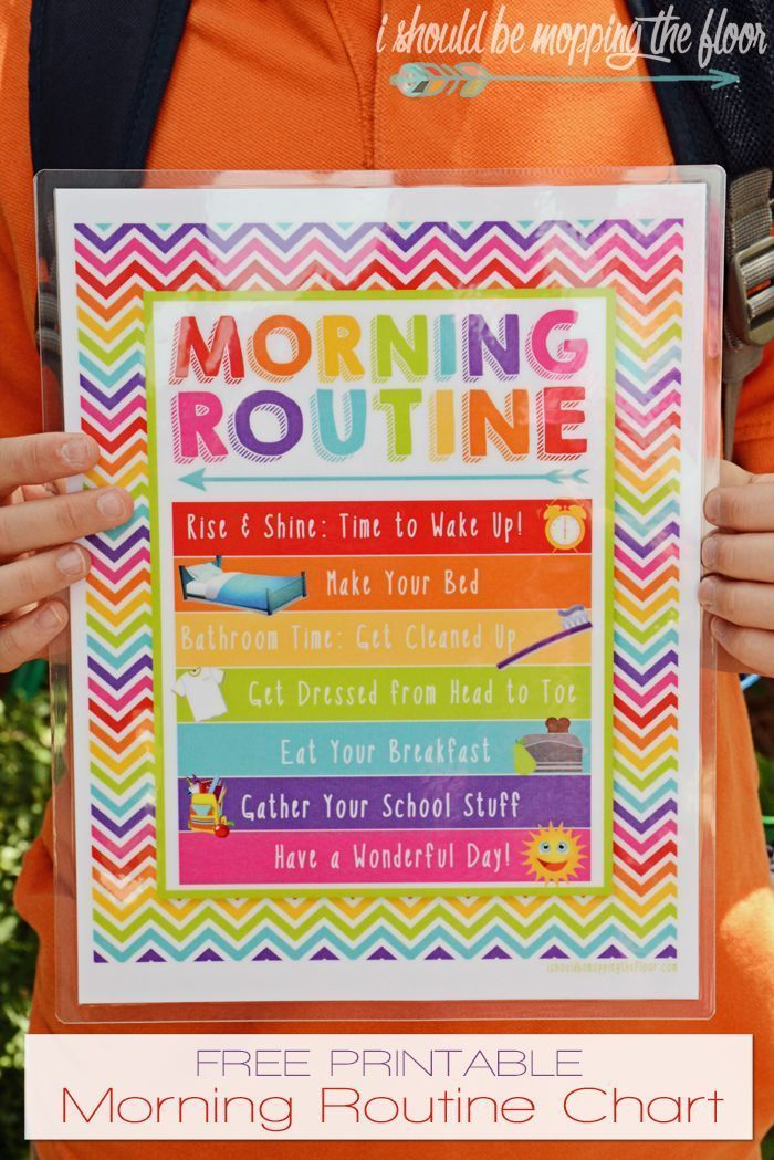 Free Morning Routine Printable  and new shoes for  #back_to_school_bulletin_boar…