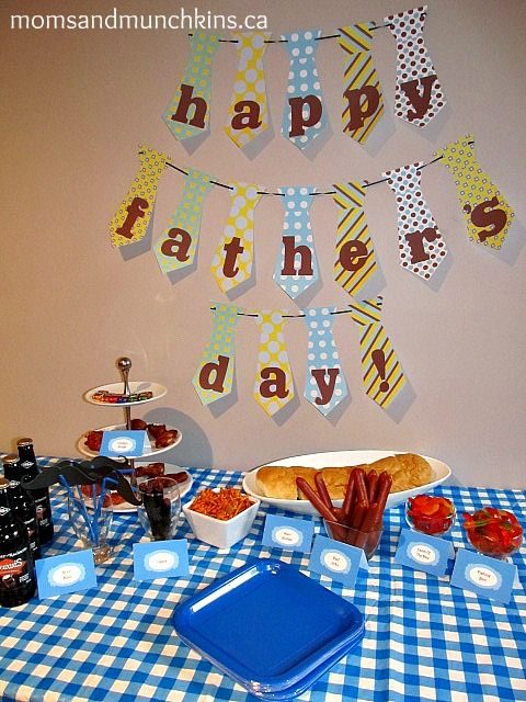 Father's Day Ideas - Food Ideas, Activity Ideas, links to free moustache and banner printables!