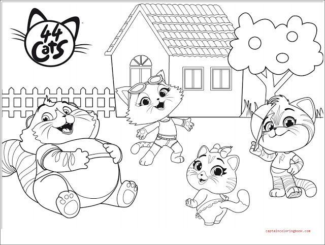 44 Cats Coloring Book Nel 2020 Disegni Da Colorare Pagine Da