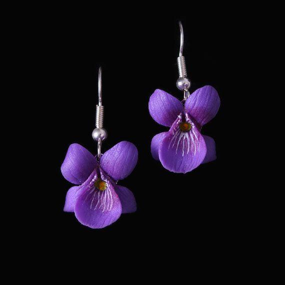 Violet Earrings by LadybirdandLeaf on Etsy, £28.00