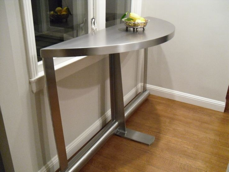 Stainless Steel Entry / Breakfast Bar Credenza / Table