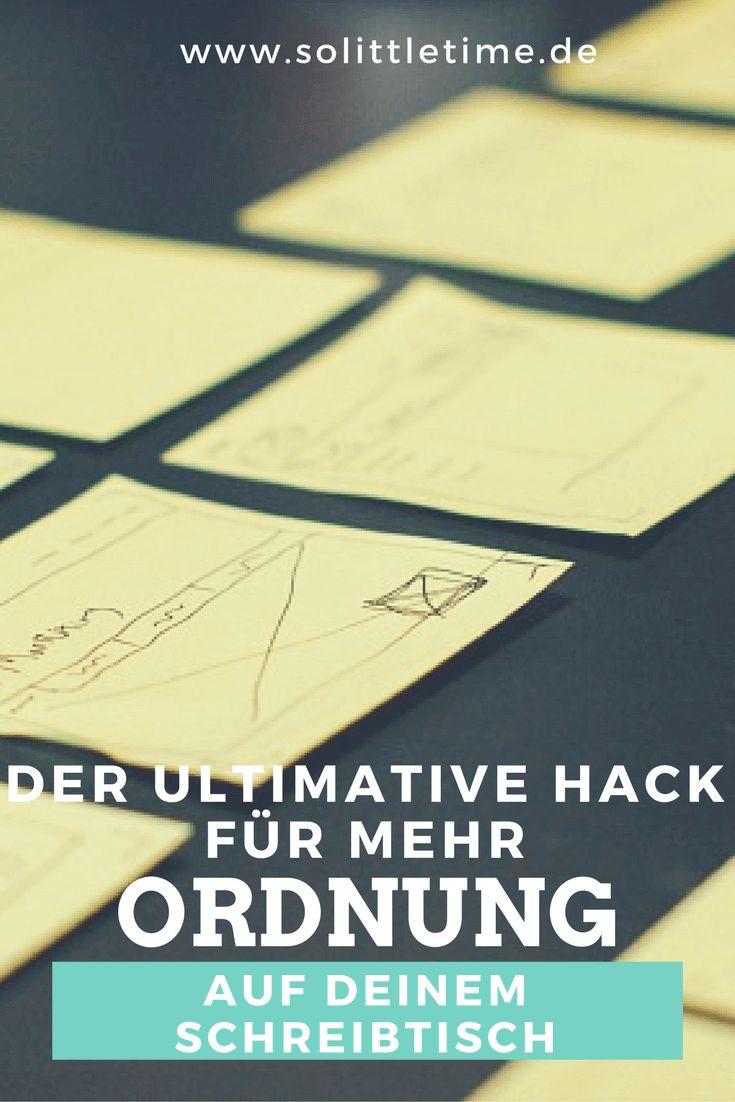 Der ultimative Hack für mehr Ordnung auf Deinem Schreibtisch