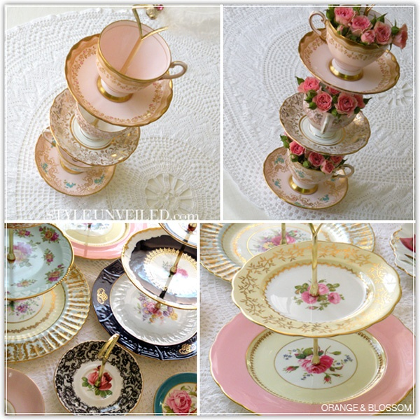 Vintage Tea Cake u0026 Cupcake Stands & 105 best Make your own Cake Plate images on Pinterest | Cake plates ...