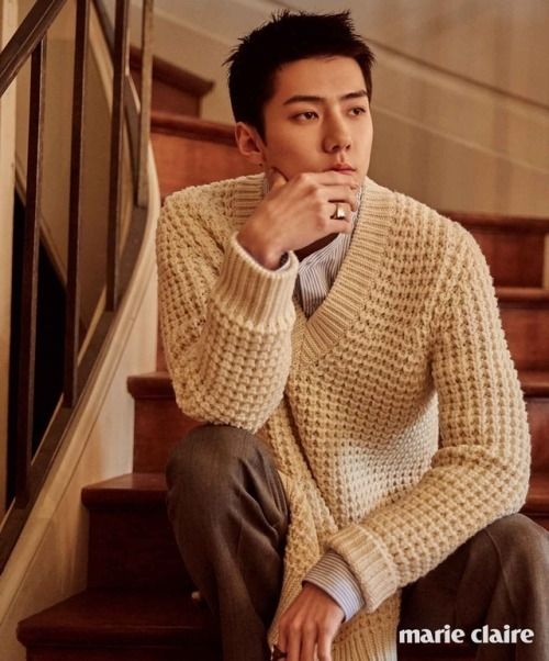 Sehun - 170619 Marie Claire magazine, July 2017 issue  Credit: Marie Claire.
