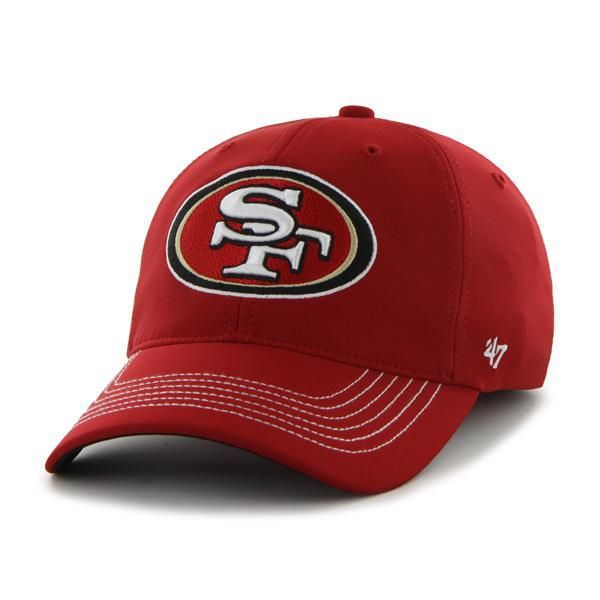 San Francisco 49ers Game Time Closer Red 47 Brand Stretch Fit Hat