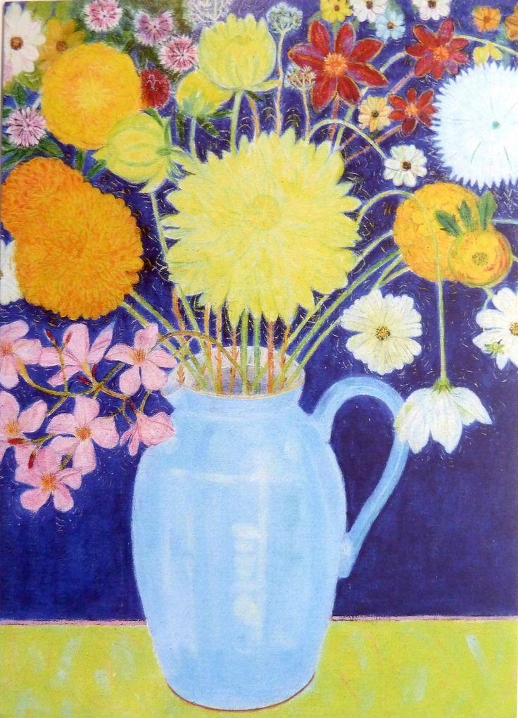 Leonard McComb RA's GARDEN FLOWERS PROVENCE at the RA Summer Exhibition 2015