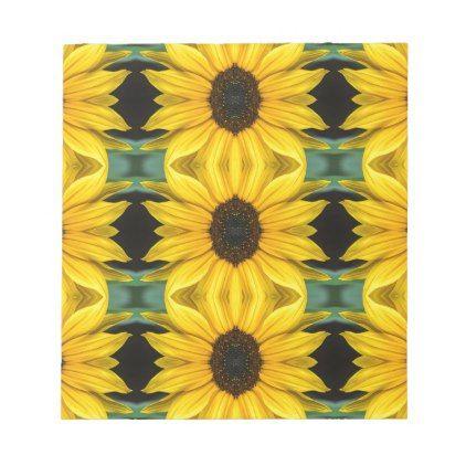 Sunflower Photo Pattern Notepad - photos gifts image diy customize gift idea