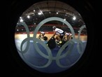 Germany's Track Cycling team trains at the London Velodrome - London Olympics 2012