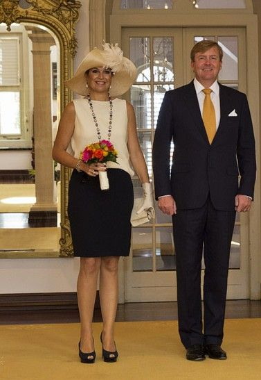 King Willem-Alexander and Queen Maxima of the Netherlands visit Curacao 11/18/13