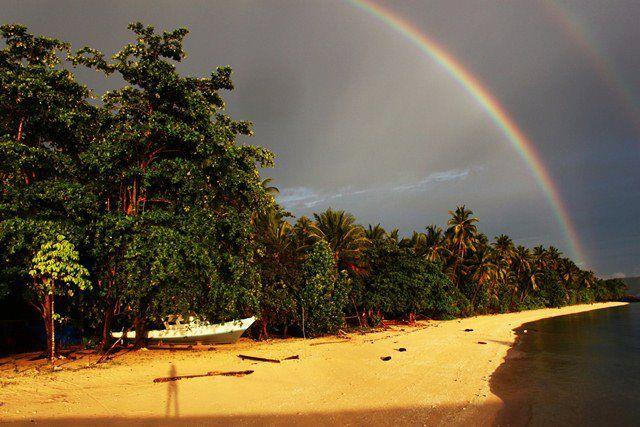 Rainbow on Bangka Island, North Sulawesi