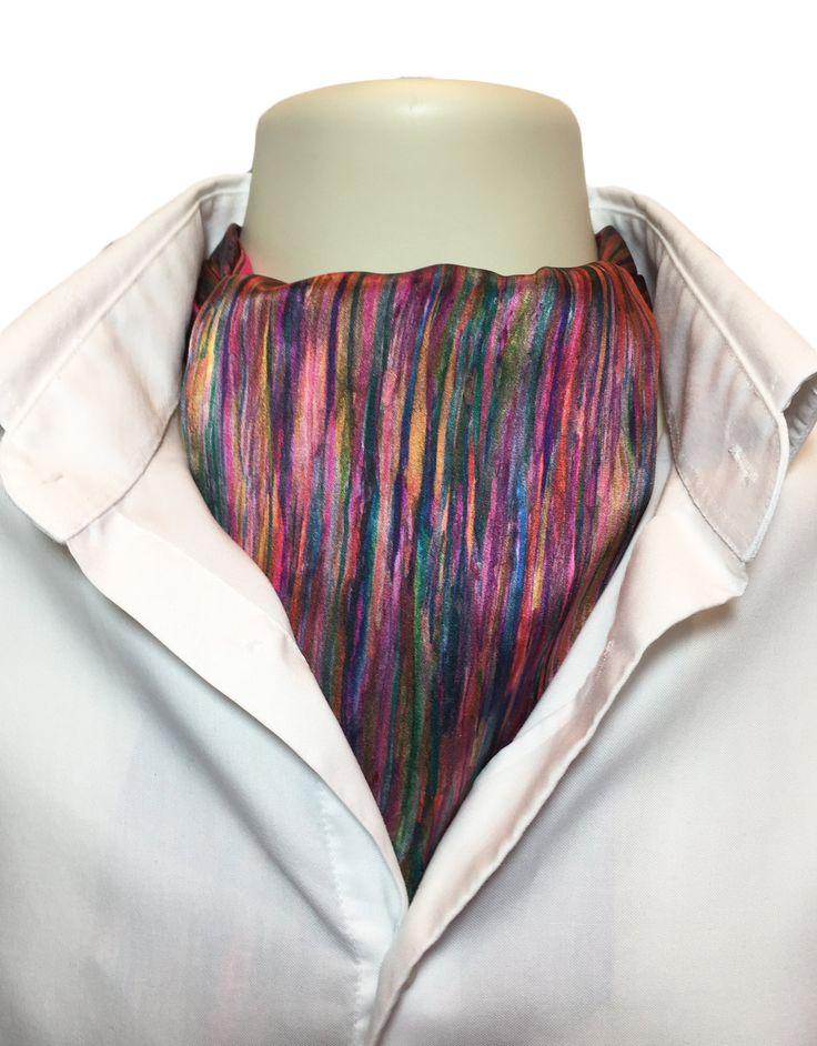 Liberty of London Handmade Ascot Day Cravat Tie, Art Silk and Cotton, Reversible! (Spring/Summer, Gift, Husband, Wedding, Boyfriend) by Beminebypaula on Etsy