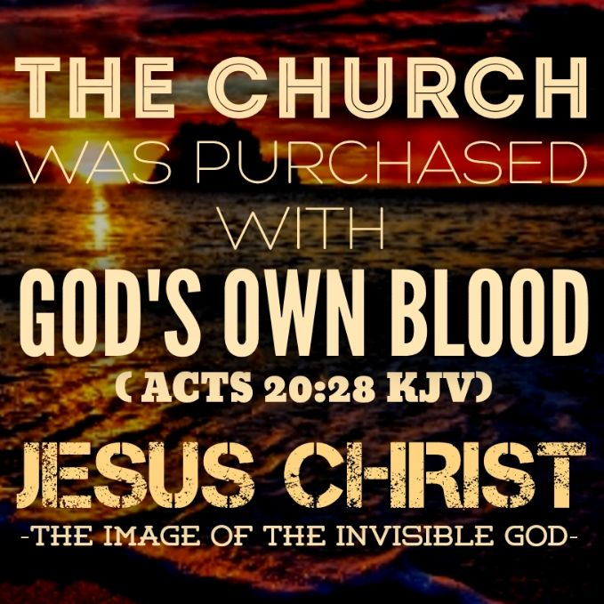 Take heed therefore unto yourselves, and to all the flock, over the which the Holy Ghost hath made you overseers, to feed the church of God, which he hath purchased with his own blood. — Acts 20:28 (KJV)