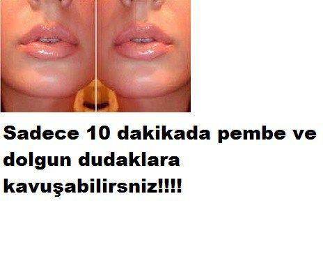 10 dakikada dolgun pembe dudaklar