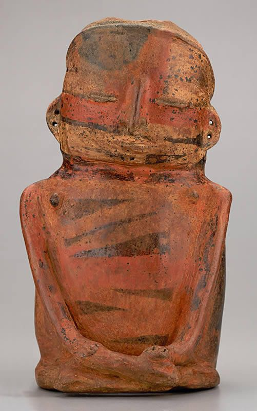 Anthropomorphous vessel, Cauca Medio - Quimbaya Late Period (700 A.D.. - 1600 A.D.). 24,5 x 14,4 cm.