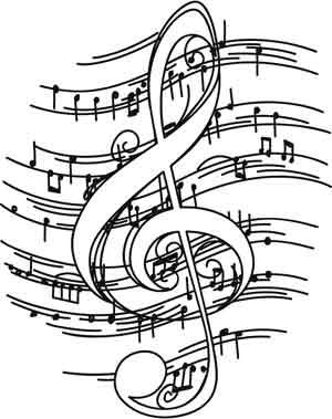 Sometimes the best music is a little rough around the edges. Downloads as a PDF. Use pattern transfer paper to trace design for hand-stitching.