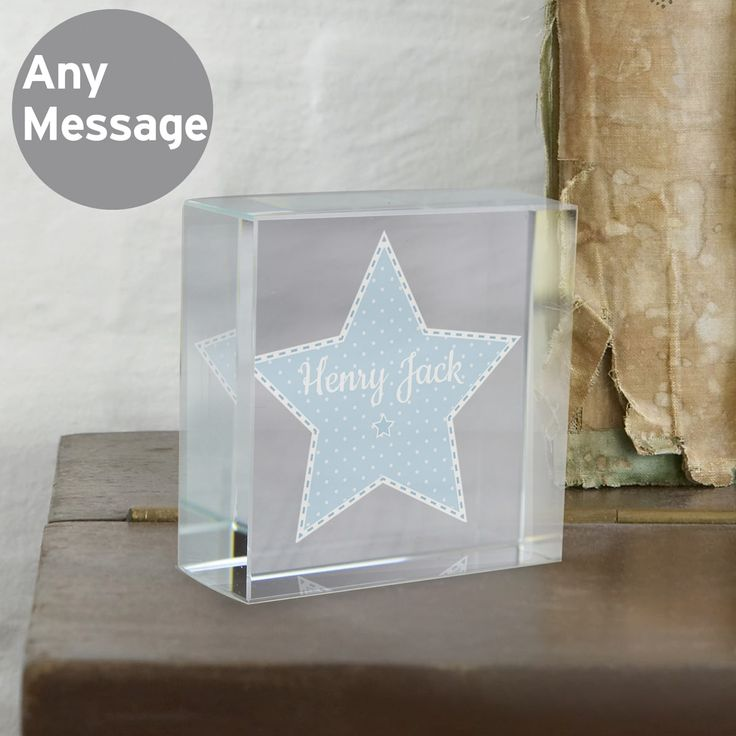 Personalise this Crystal Token with a role/name up to 12 characters inside the star.