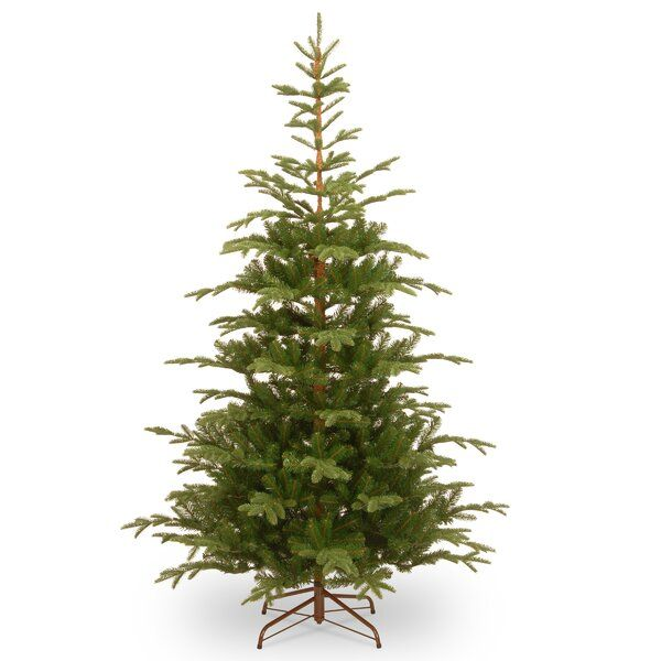 Bring The Feel Of The Forest Into Your Home During The Holidays With This Decor In 2020 Spruce Christmas Tree Slim Artificial Christmas Trees Artificial Christmas Tree