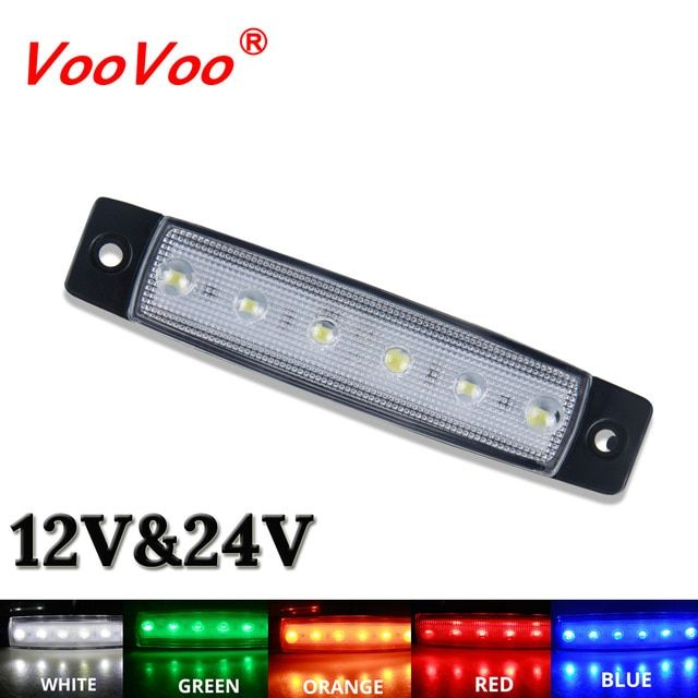 Car External Light Led 12v 24v 6 Smd Led Auto Car Bus Truck Lorry Side Marker Indicator Led Trailer Light Warning R Led Trailer Lights Ford Edge Led Angel Eyes