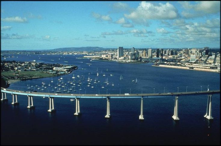 Coronado Island. We have crossed this bridge many times. Even went under it a time or two! Great little kick back place to enjoy the beach with young children...