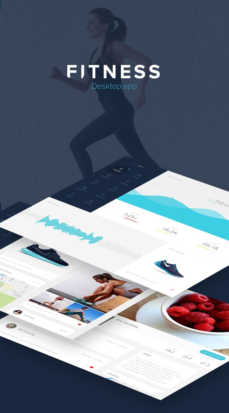 Fitness app : A simple & clean desktop interface on Behance