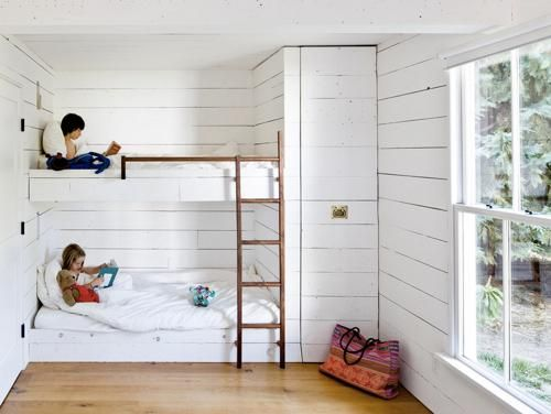 Cozy bunk beds at summer cottage for Logan and Little Lady C