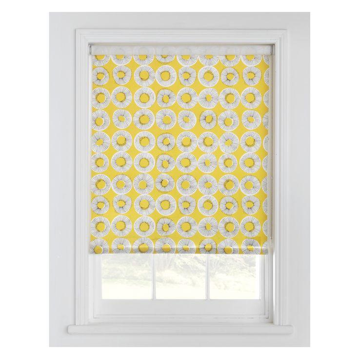 EVELYN Yellow patterned roller blind 122 x 160cm | Buy now at Habitat UK