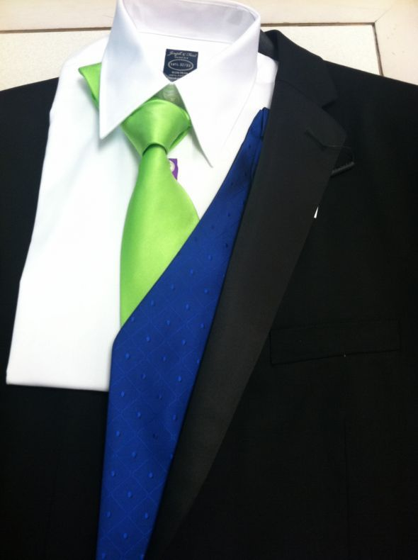 Wedding Colors!!! Royal Blue and Lime Green :  wedding Guys Tuxes