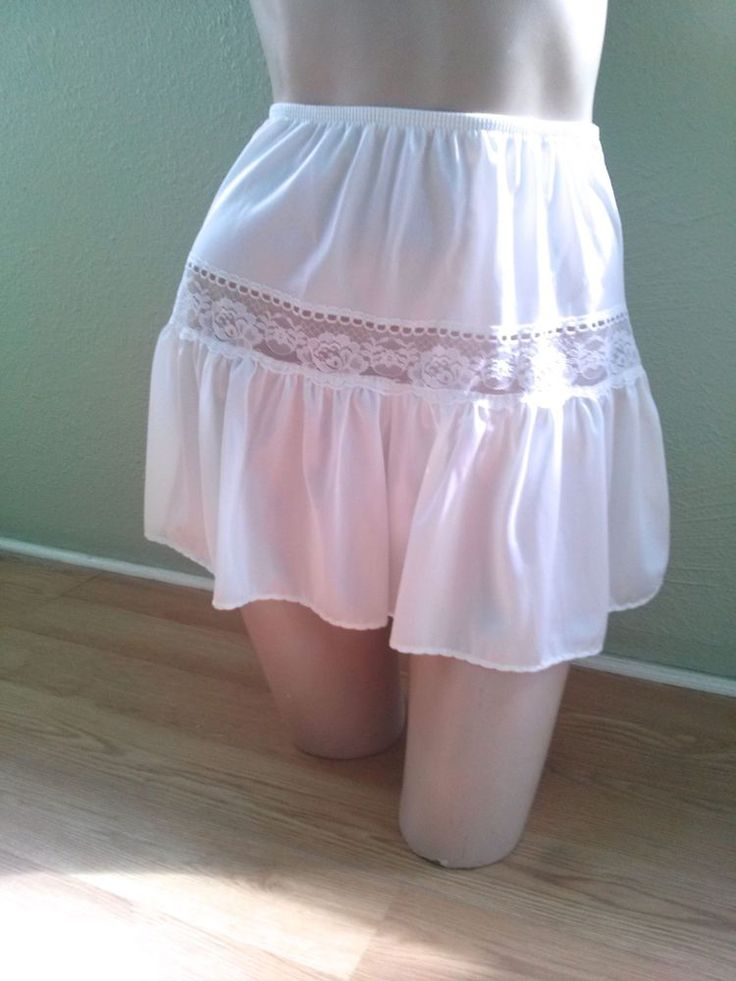 VTG 1980s White Bloomers 80s Body Chic Sissy Granny Panties Tap Pants Sz S M #BodyChic #Everyday