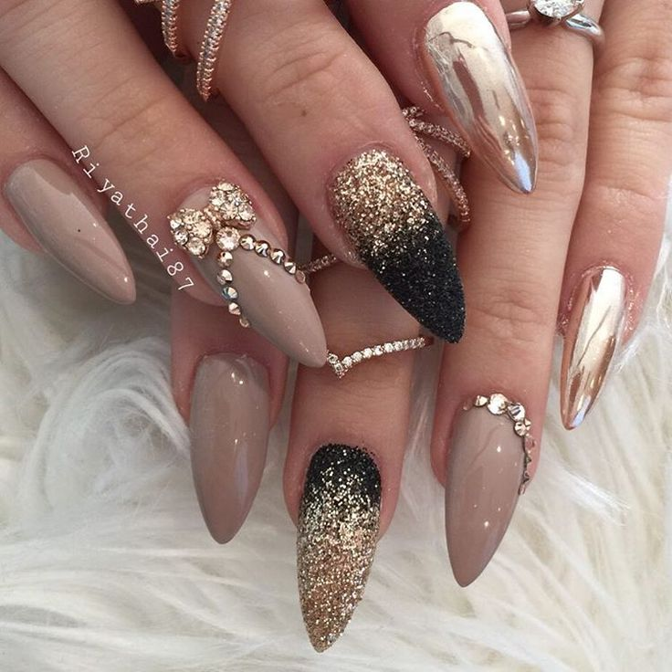 Diamonds Nail Art Design Ideas: 25+ Best Ideas About Diamond Nails On Pinterest