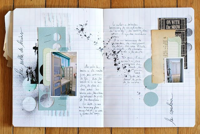 I like this clean journaling/scrapbooking look.