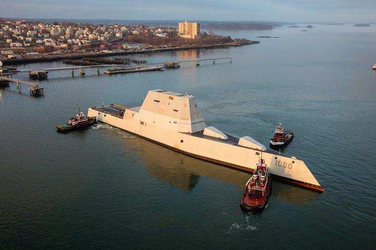 The new guided missile destroyer USS Zumwalt (DDG 1000), along with the USS Michael Monsoor (DDG 1001), will head to BAE Systems' shipyard in San Diego for post-construction work. (Photo: U.S. Navy)