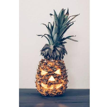 Ananas Jack O' Lantern - Halloween : 14 recettes effrayantes et faciles repérées sur Pinterest - Elle à Table