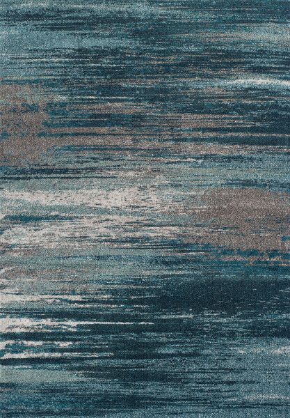 Beautiful, eclectic design of 100% tri-color frieze polypropylene. Available at Rug & Home! #modern #teal